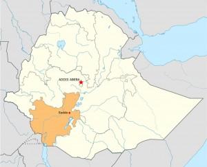 cartina dell'Etiopia