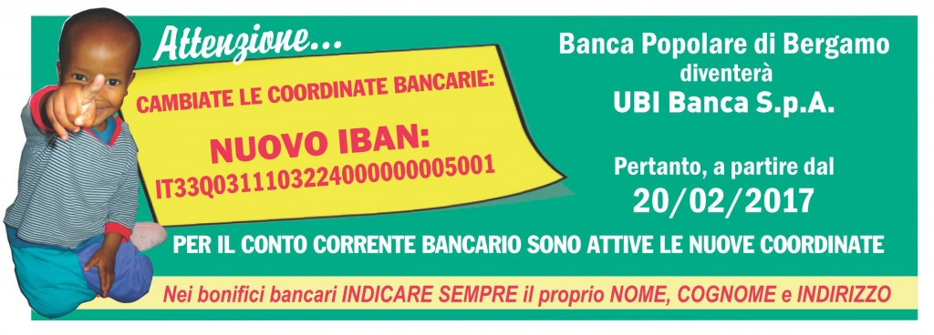 Nuove Coordinate Bancarie